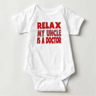 Relax My Uncle Is A Doctor Baby Bodysuit