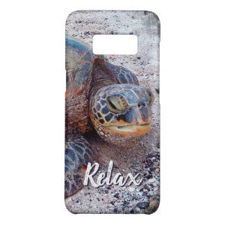 """Relax"" Quote Fun Hawaii Sea Turtle Close-up Photo Case-Mate Samsung Galaxy S8 Case"