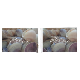 Relax Sea Shells Summer Beach Natural Photo Pillowcase