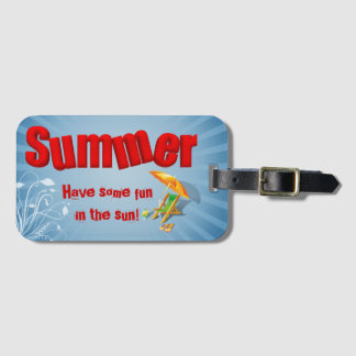 Relax Summer Fun Holiday Lounger - Luggage Tag