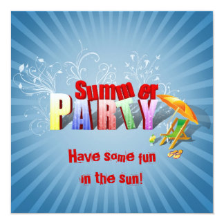 Relax Summer Fun - Party Invitation