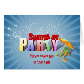 Relax Summer Fun Party Invitation - Greeting Card