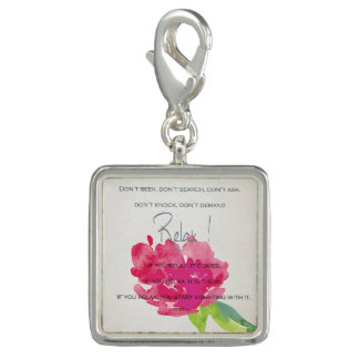 RELAX TO RECEIVE, TO VIBRATE BRIGHT PINK FLORAL