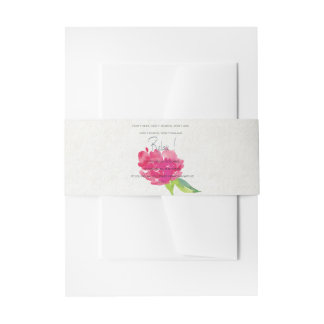RELAX TO RECEIVE, TO VIBRATE BRIGHT PINK FLORAL INVITATION BELLY BAND
