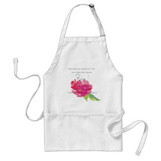 RELAX TO RECEIVE, TO VIBRATE BRIGHT PINK FLORAL STANDARD APRON