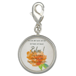 RELAX TO RECEIVE, TO VIBRATE ORANGE FLORAL
