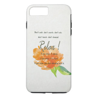 RELAX TO RECEIVE, TO VIBRATE ORANGE FLORAL iPhone 8 PLUS/7 PLUS CASE