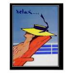 Relax Travel Vintage poster Poster