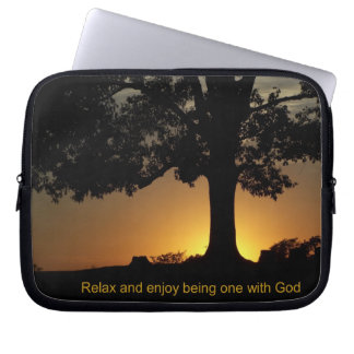 relax with God sleeve Laptop Computer Sleeve