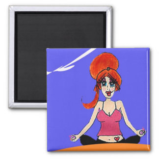 Relax yoga magnet