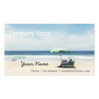 Relaxation Beach Elegant Spa Travel vacation Pack Of Standard Business Cards