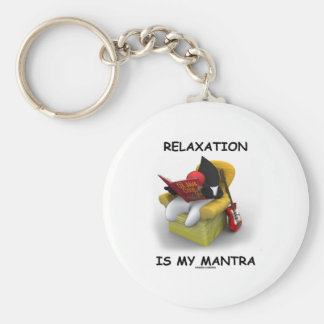Relaxation Is My Mantra (Java Duke Code) Key Chains