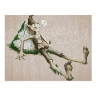 Relaxed elf postcard