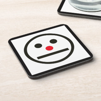 Relaxed Face Expression with Red Nose Coaster