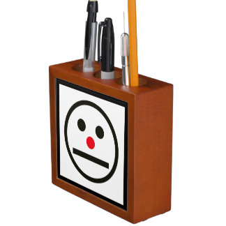 Relaxed Face Expression with Red Nose Desk Organiser