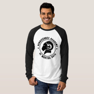 Relaxed Fit Black and White Long Sleeve RAM Tee