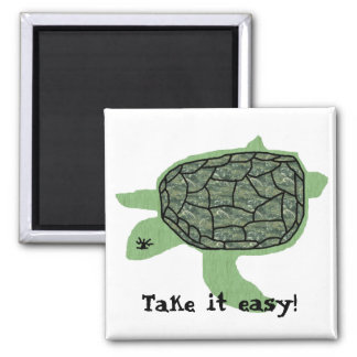Relaxed Honu sea turtle, Take it easy! magnet