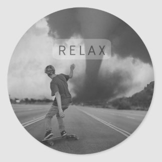 Relaxed Round Sticker