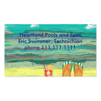 Relaxing at the Beach, Customizable Pack Of Standard Business Cards