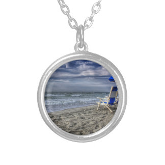 Relaxing at the Beach Silver Plated Necklace