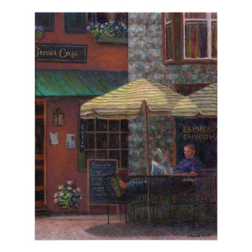 Relaxing At The Cafe Fine Art Prints & Posters