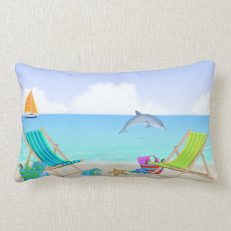 Relaxing Beach Lumbar Pillow