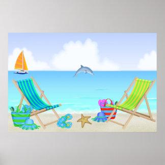 Relaxing Beach Poster/Print Poster