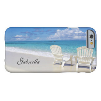 Relaxing Beach Scene  With Two Chairs Phone Case