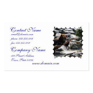 Relaxing Brown Bear Pack Of Standard Business Cards