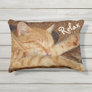 Relaxing Cat Outdoor Cushion