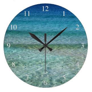Relaxing Gentle Ocean Waves Small Numbers Large Clock