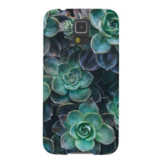 Relaxing Green Blue Succulent Cactus Plants Galaxy S5 Covers