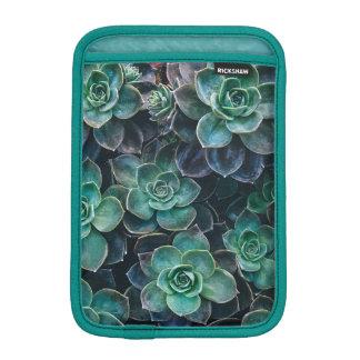 Relaxing Green Blue Succulent Cactus Plants iPad Mini Sleeve
