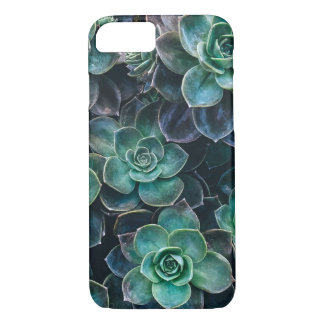 Relaxing Green Blue Succulent Cactus Plants iPhone 8/7 Case
