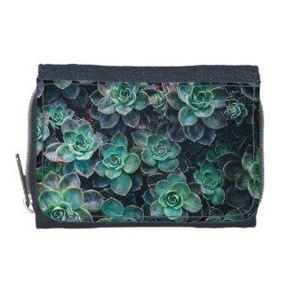 Relaxing Green Blue Succulent Cactus Plants Wallets