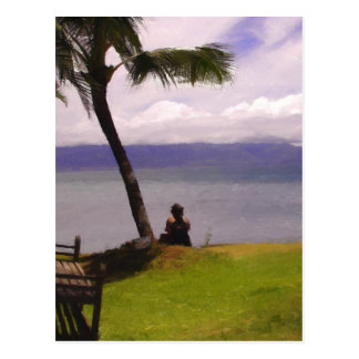Relaxing Hawaiian Style Postcard