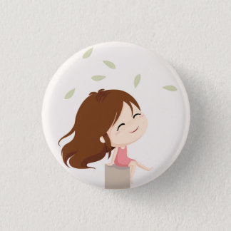 Relaxing in the wind 3 cm round badge