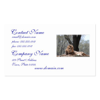 Relaxing Lion Business Card Template