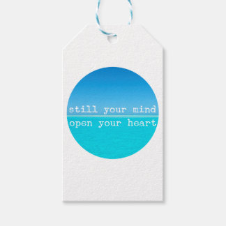 Relaxing Meditation Quote: Sill Mind Open Heart Gift Tags