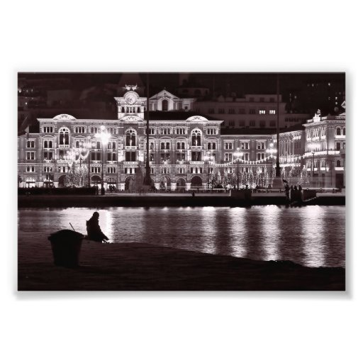 Relaxing night in town photographic print