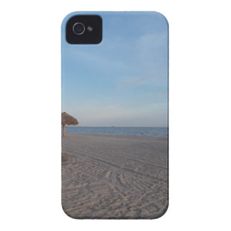 Relaxing Ocean Beach Witth Palm Tree Umbrellas iPhone 4 Cover