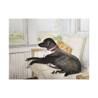 Relaxing on the Porch Canvas Print