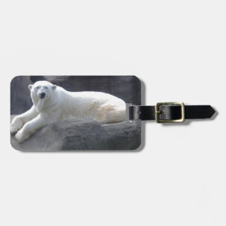 Relaxing Polar Bear Luggage Tag