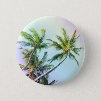 Relaxing Rainbow Color Palms 6 Cm Round Badge