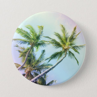 Relaxing Rainbow Color Palms 7.5 Cm Round Badge