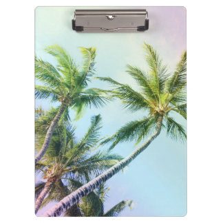 Relaxing Rainbow Color Palms Clipboards