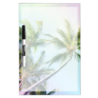 Relaxing Rainbow Color Palms Dry Erase Board