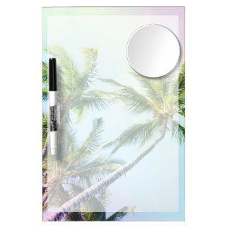 Relaxing Rainbow Color Palms Dry Erase Board With Mirror