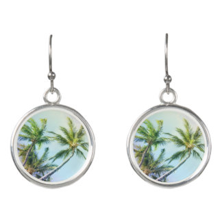 Relaxing Rainbow Color Palms Earrings