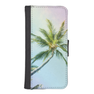 Relaxing Rainbow Color Palms iPhone SE/5/5s Wallet Case